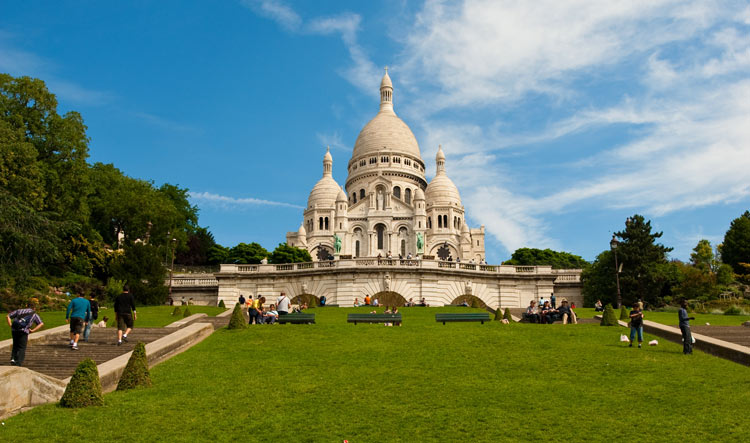 View on Montmartre Hill and the Sacred-Heart Basilica