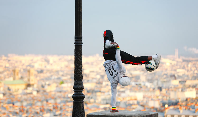 Iya Traore in Montmartre, the Genius Soccer Juggler