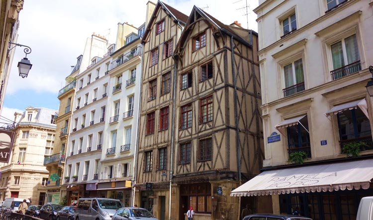 One of the oldest building in Paris - rue François Miron in the Marais
