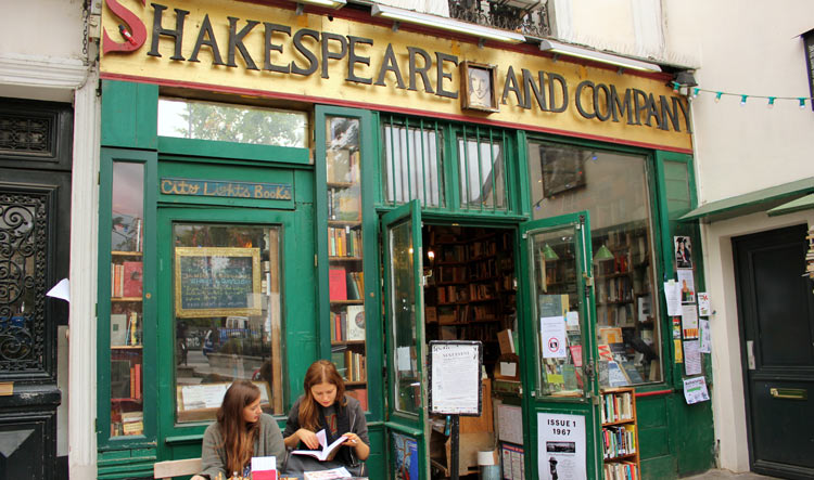 Shakespeare and Co Library in the Latin Quarter