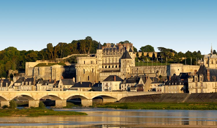 Fabulous Amboise Castle on the border of the Loire river