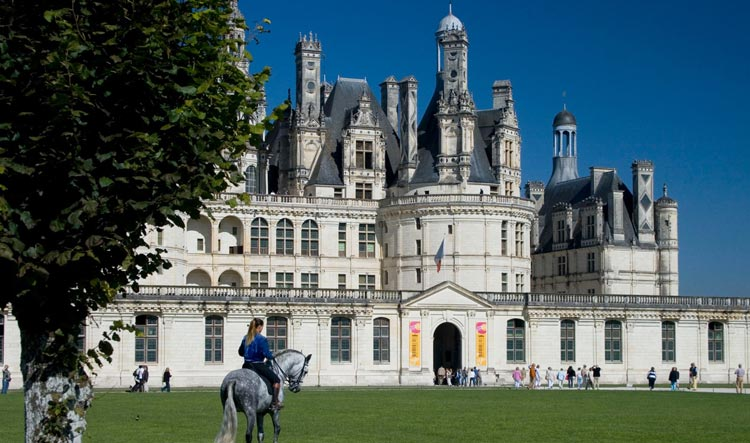 View on Chambord Castle from the grounds