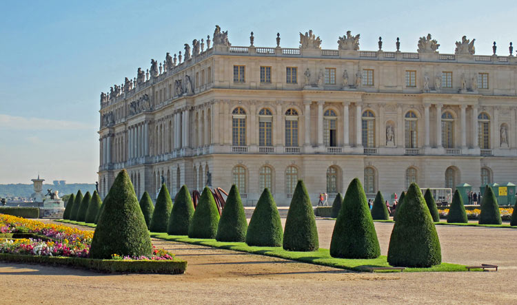 Side view on the Palace of Versailles